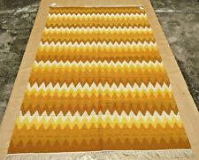 Vintage Hand Woven Wool Rug Turkish Kilim Dhurrie Oriental Area Rug Carpet 5x8