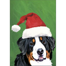Bernese Mountain Dog Christmas Flag