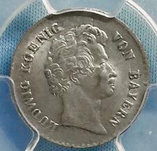 PCGS Certified MS 64 Bavaria King Ludwig 6 Silver Kreuzer 1828 Lustrous BRITE