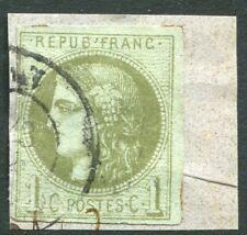 FRANCE-1870-71 1c Bronze-Green  Sg 147 VERY  FINE USED V20060