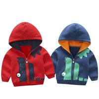 Baby Girl Boys Winter Warm Hooded Coat Kids Toddler Outerwear Jacket Clothing