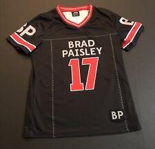 Brad Paisley Jersey women's sz M 17 Country Music Red Black Concert Shirt B18