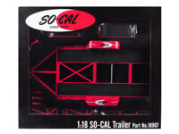 1/18 GMP Tandem Car Trailer with Tire Rack SO-CAL Speed Shop Model Red 18907