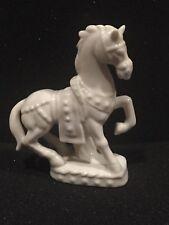 Vintage White Horse with Saddle Porcelain Figurine