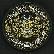 CONSOLIDATED DIVERS UNIT EXCELLENCE UNDER PRESSURE MARK V DIVING MILITARY PATCH