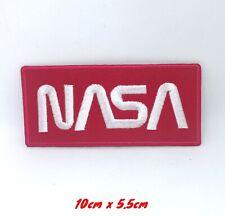 Nasa Espace Agence Blanc sur Rouge Brodé à Repasser Patch à Coudre #360