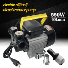 110V Ac Self Priming Electric Oil Pump Transfer Fuel Diesel With Aluminum Casing
