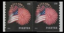 US 4854 Star-Spangled Banner forever coil pair APU (2 stamps) MNH 2014
