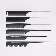 15pcs Hairdressing Carbon Antistatic Cutting Barber Stylist Set Hair Comb Hair