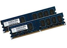 2x 2gb 4gb di RAM Nanya MEMORIA PC ddr2 800 MHz pc2-6400u per ESPRIMO e5730