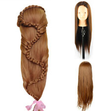 "26"" 30% Real Human Hair Hairdressing Training head Mannequin Doll &Clamp"