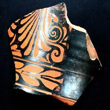 "Beautiful Ancient Greek Pottery Shard 350 - 250 BC. Measures 6"" x 5"" gr282"