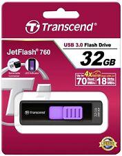 Transcend jetflash 760 32gb negro violeta 32 gb t32gjf760 Stick USB 3.0 OVP