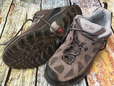 SALOMON Contagrip Gray Blue Trail Hiking Shoes Women's Size 8 US 40 EU