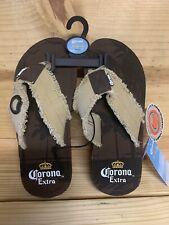 Corona Beer Sandle Flip Flops With Bottle Opener Men's Medium