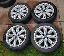 "17"" 4x 108 Alloy Wheels With Tyres Citroen C4 2004-1016 C3 205/50 R17 silver"