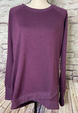 Danskin Criss Cross Tunic Long Sleeve Shirt XL Plum Women's Size XL