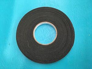 """1/2"""" X 50' x 1/16"""" Roll Neoprene Foam Press On Seal Tape P8106 Weather Sealant"""