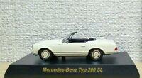 1/64 Kyosho MERCEDES BENZ TYPE 280 SL 280SL WHITE diecast car model