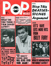 original UK 1965 Music Magazine: POP WEEKLY no.34   Searchers  Manfred Mann