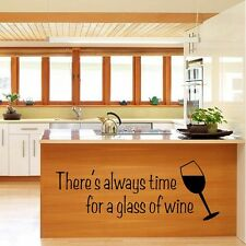 Wandtattoo Wandsticker Wandaufkleber Küche Weinglas Deko Modern PVC 58x21cm NEU