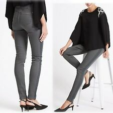 PER UNA Sculpt & Lift SPARKLE Trim ROMA Fit SKINNY JEANS ~ Size 10 Long ~ GREY