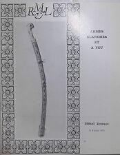 1975 Catalogue de vente Hôtel Drouot Salle N°4 ARMES BLANCHES ARMES A FEU CHASSE