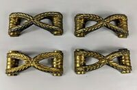 "Vintage Gold 3.5"" Drawer Pull Handle Set Art Deco MCM"