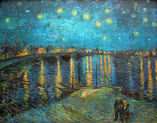 Gogh Van Vincent Starry Night Over The Rhone Print 11 x 14  #4550