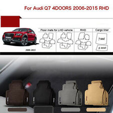 "Full Set 1/2""Thick Solid Nylon Interior Floor Carpet Mats For RHD Audi Q7 06-15"