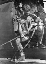 Rhodesian War Photo Trooper in Alouette G Car with FN MAG  RLI Rhodesia  / 8023