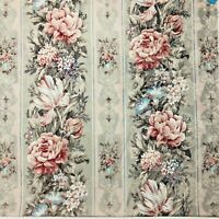 """Vtg Culp 1995 Decor Fabric Upholstery 2.625 Yd x 54"""" Floral Roses Damask Brocade"""