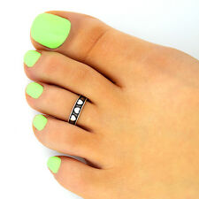 Sterling silver 925 toe ring Heart design adjustable toe ring (T-121)