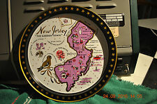 New Jersey Garden State     VINTAGE METAL SERVING / BEER TRAY