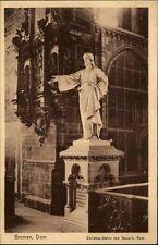 Bremen Postkarte ~1920/30 Innenansicht Dom Christus Statue von Dausch ungelaufen