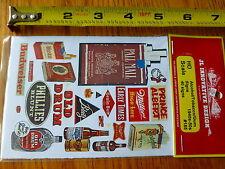 JL Innovative Design HO #185 Alcohol/Tabacco/Gun Signs / Paper Signs