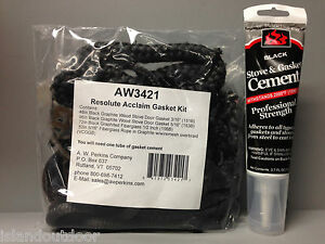 AW 3421 Resolute Acclaim Stove Gasket Kit & Cement Vermont Castings VC000-3421