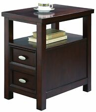 New Crown Mark Dempsey Chairside Table End With Espresso Finish Furniture Wood