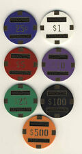 CARD GUARDS - 7 COLOR NEVADA CLUB POKER CHIP SET COVER PROTECTOR NEW - FREE S/H*