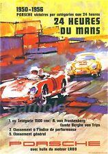 VINTAGE PORSCHE LE MANS 1950's RACING A2 POSTER PRINT
