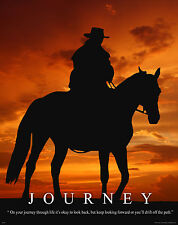 Horse Motivational Poster Art Western Decor Cowboy Rodeo Saddle Spurs MVP52