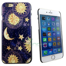 Pellicola+Custodia back cover Astrologia per iPhone 6 6S case rigida sole luna