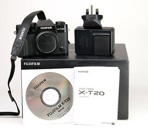 Fujifilm X-T20 Fuji Mirrorless Camera - Body Only  Boxed + 338 Shots Taken - EXC