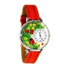 Ladybugs Red Leather Watch Whimsical Watches Unisex U1210004