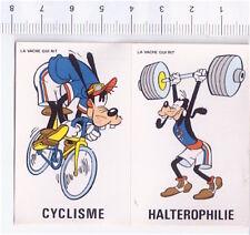 GOOFY OLYMPIQUE  1980 La Vache qui rit france sticker figurina Olimpiadi Disney
