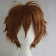 Multi Color Short Straight Hair Wig Anime Party Cosplay Full sell Wigs+Cap 30cm