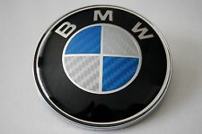 BMW bonnet BADGE fake carbon effect E36 E39 E46 E60 X3 X5  FREE EUROPE P&P