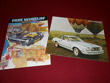1977 FORD MUSTANG 12 p. CATALOG + 16 p. CAR, TRUCK, VAN, FREE WHEELIN' BROCHURE