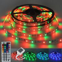 5M 300Leds RGB Flexible SMD 3528 Led Strip Light Lamps+44 Key IR Controller 12V