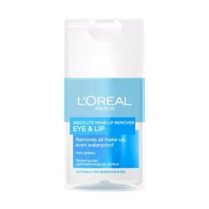 L'Oreal Paris Absolute Make-Up Remover Eye & Lip 125ml Brand New Sealed